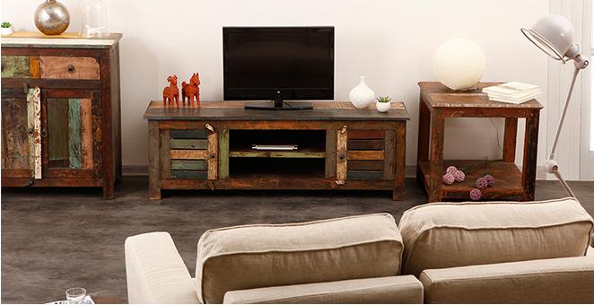 Meubles tv trouvez un meuble tv pas cher miliboo - Meuble tv a roulette pas cher ...
