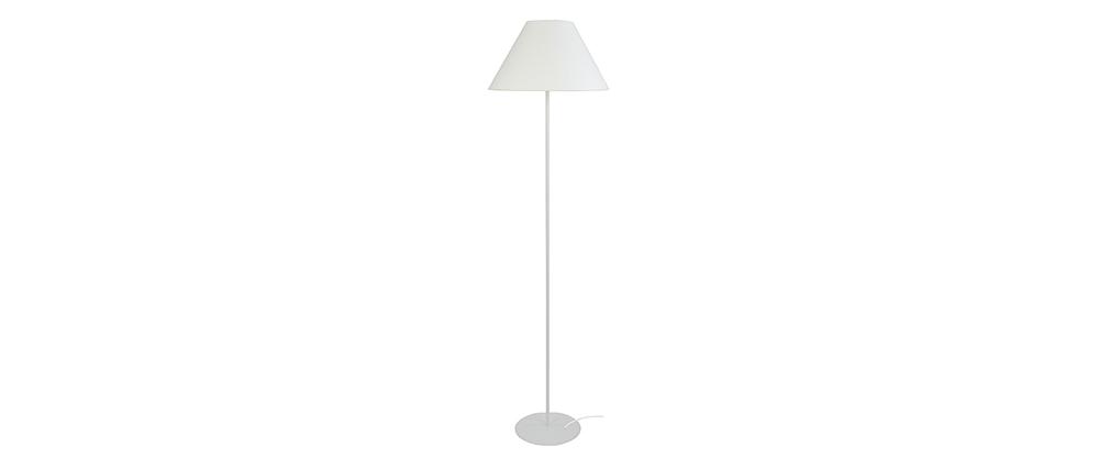 Lampadaire design acier blanc CONEO