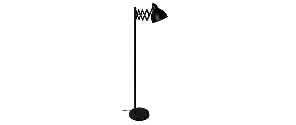 Lampadaire design extensible acier noir ACCORDEON