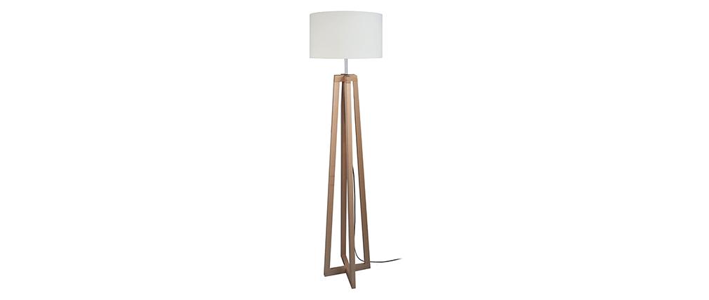 Lampadaire design pieds croisés bois MANON