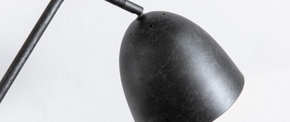 Lampadaire design trépied en métal anthracite TRYO