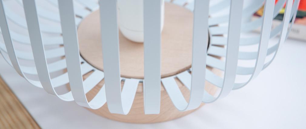 Lampe à poser design acier blanc ALVEOL