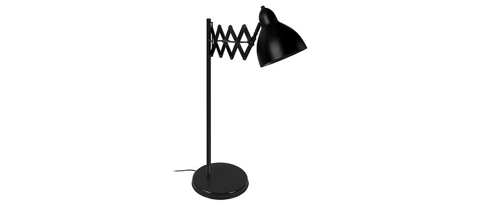 Lampe à poser design extensible acier noir HARMONICA