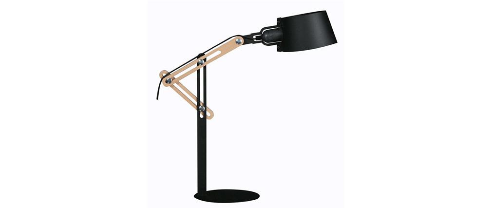 Lampe à poser design métal noir BILLY