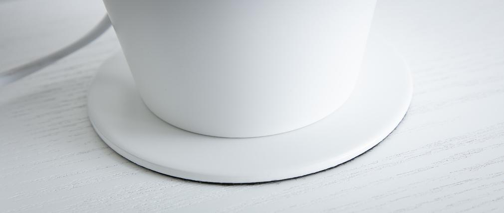 Lampe à poser pot à crayon en métal blanc PENNY