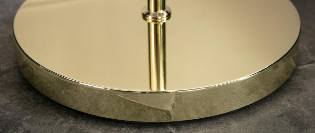 Lampe sur pied en métal doré et verre SOAP