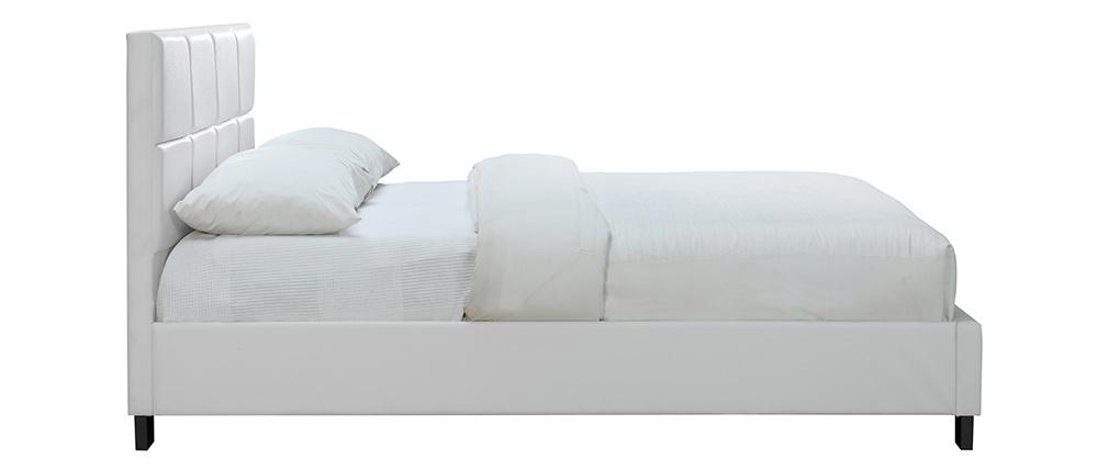 Lit adulte 160x200 cm blanc SOLAL
