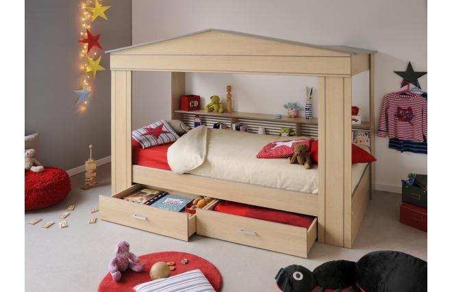 lit cabane enfant romane miliboo. Black Bedroom Furniture Sets. Home Design Ideas