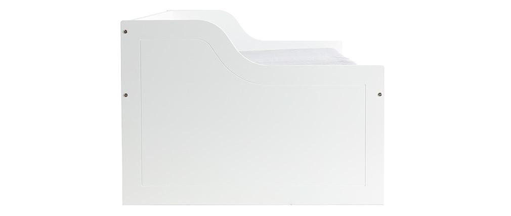 Lit enfant à tiroirs 90x190 blanc CLEO