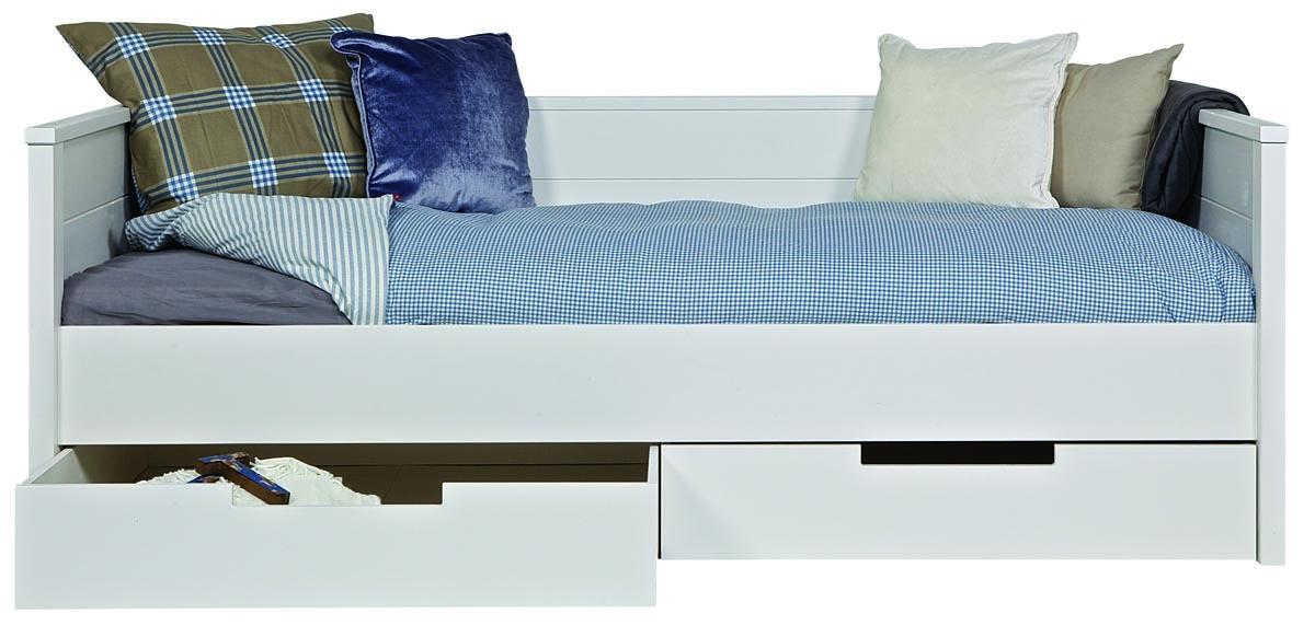 Sommier avec rangement maison design - Lit 140 avec tiroirs rangement ...