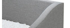 Lit gigogne 90x190 cm gris clair BEKKER