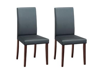 Lot de 2 chaises design bois coloris wenge LYDY