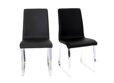 Lot de 2 chaises design noires BELLA