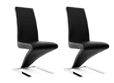 Lot de 2 chaises design noires NEW ANGIE