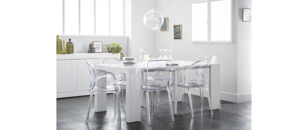 Lot de 2 chaises empilables design transparentes polycarbonate THALYSSE