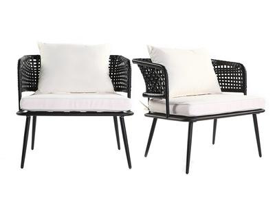 Fauteuil relax rocking chair ou fauteuil club miliboo - Fauteuil en fil de resine ...