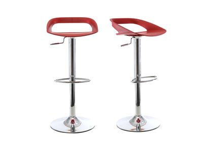 Lot de 2 tabourets de bar design rouge PHENIX