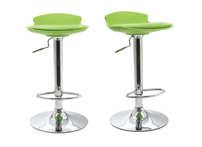 Lot de 2 tabourets de bar design verts NOVA