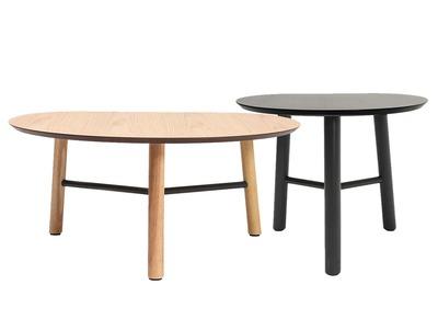 Lot de deux tables basses design 80 et 50cm bois JAPANSK