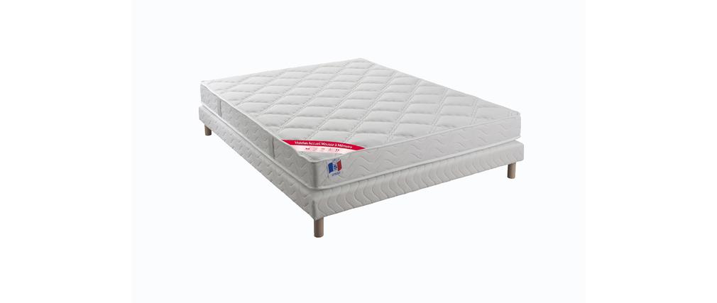 matelas m moire de forme et sommier 160 x 200 cm nox miliboo. Black Bedroom Furniture Sets. Home Design Ideas