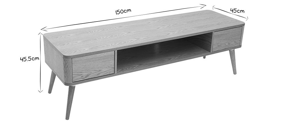 Meuble TV design en chêne clair TOTEM