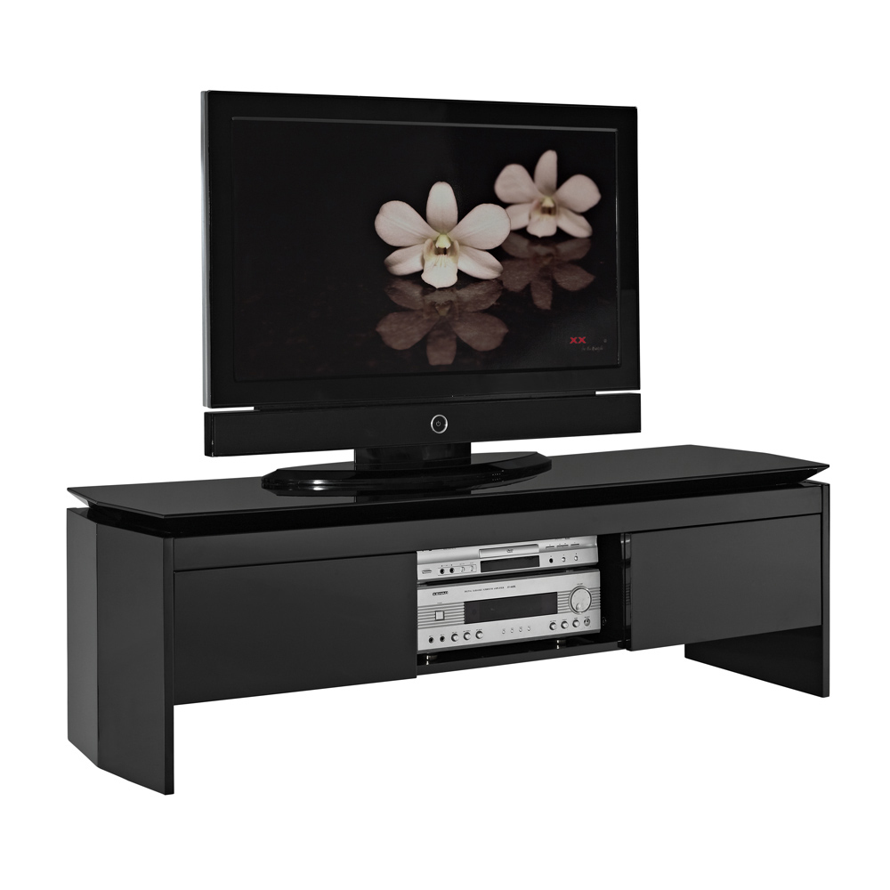 meuble tv design italien noir solutions pour la. Black Bedroom Furniture Sets. Home Design Ideas