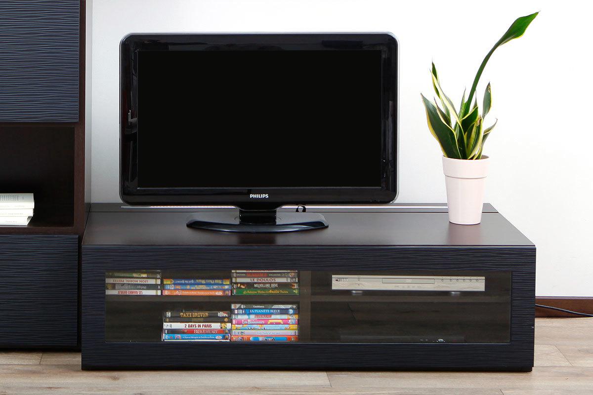 meuble tv bois noir mat – artzein