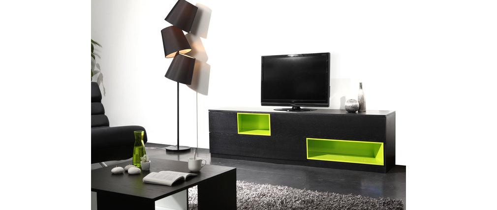 meuble tv design noir. Black Bedroom Furniture Sets. Home Design Ideas
