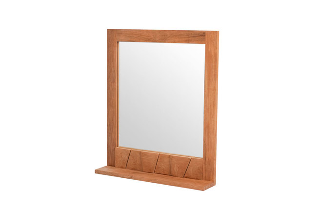 Miroir de salle de bain en teck design aru miliboo for Miroir des modes 427