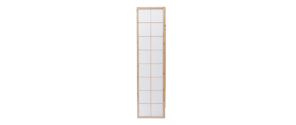 Paravent japonais en bois et papier IKUYO