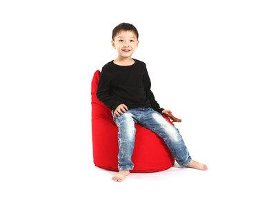 Pouf design coton rouge MILIBABY