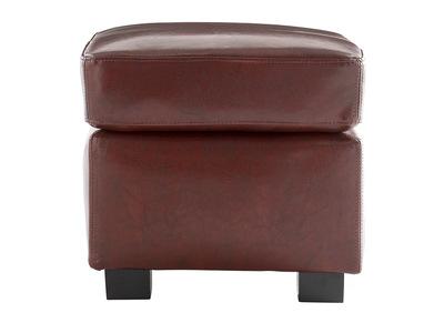 Pouf / repose pied Club cuir marron clair - cuir de buffle