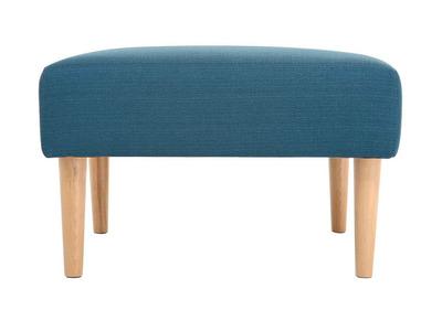 Pouf / repose pieds design bleu OSCAR