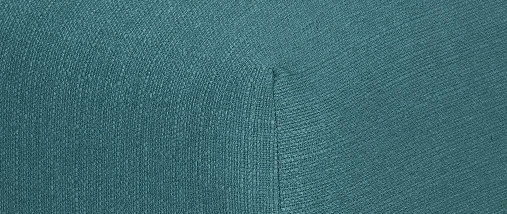 Repose-pieds design tissu bleu canard MODULO