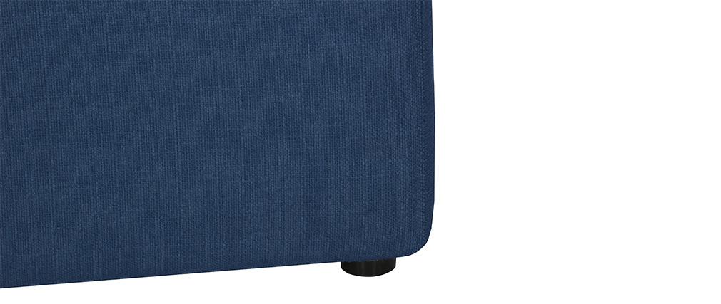 Repose-pieds design tissu bleu foncé MODULO
