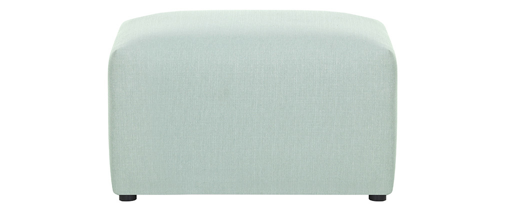 Repose-pieds design tissu vert menthe MODULO