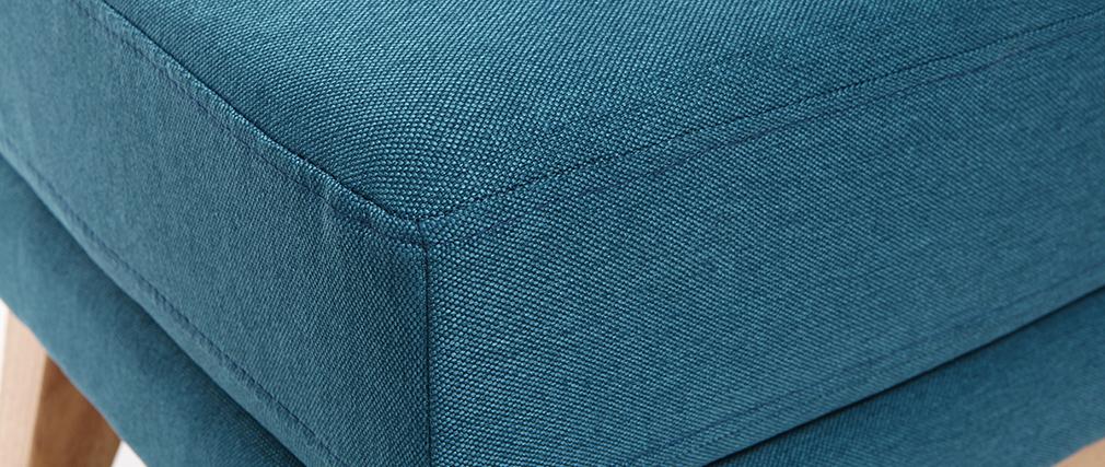 Repose-pieds scandinave déhoussable bleu canard OSLO