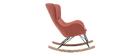 Rocking chair design effet velours texturé terracotta ESKUA