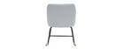Rocking chair design en tissu gris bleu BALTIK