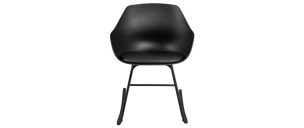 Rocking chair design noir KAALA