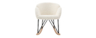 Rocking chair design tissu mouton blanc RHAPSODY - Miliboo & Stéphane Plaza