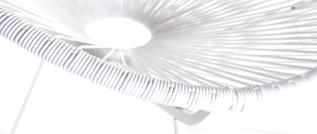 Rocking chair en fils de résine blanc BELLAVISTA