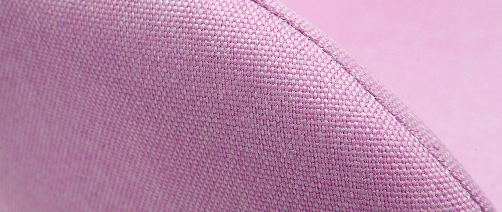 Rocking chair enfant tissu rose pieds métal et frêne JHENE