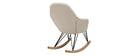 Rocking chair tissu naturel pieds métal et frêne JHENE