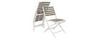Salon de jardin pliable avec table et 2 chaises blanc et gris MOJITO
