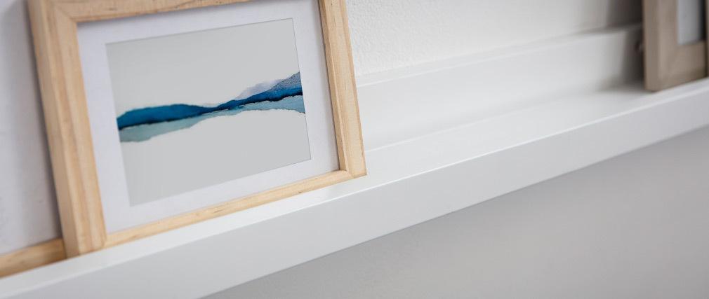 Support de cadres photos blanc laqué mat LINEA