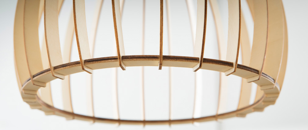 Suspension design bois clair FIJI