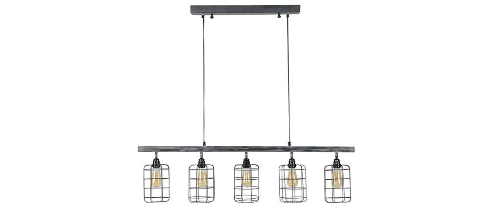En 5 Métal Miliboo Industrielle Loft Gris Suspension Lampes j3Ac4S5RLq