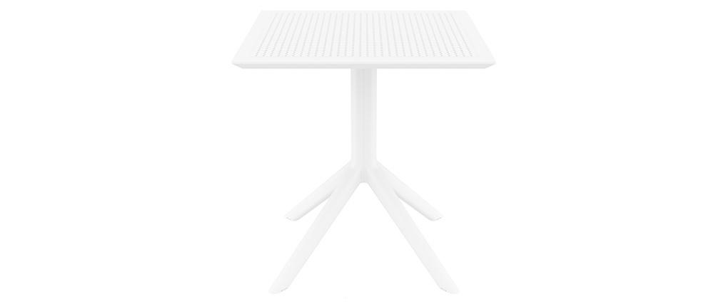 Table à manger carrée design blanche intérieur / extérieur OSKOL