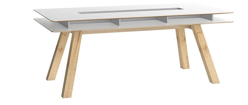 Table à manger design avec rangements 200cm WITTY